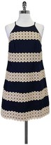 Lilly Pulitzer Navy w/ Gold Embroidery Annabelle Shift Dress