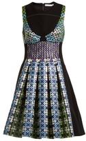 Mary Katrantzou Narcisse Circle-jacquard Dress - Womens - Blue Multi