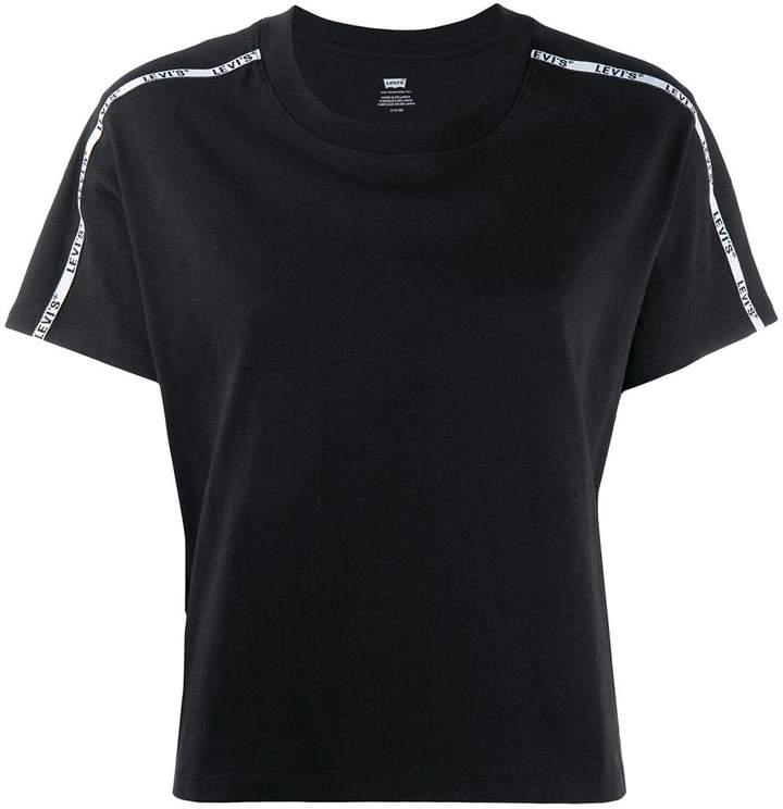 Levi's logo piped trim T-shirt