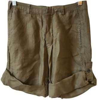 Balenciaga Khaki Cloth Shorts for Women