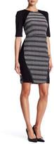 Rachel Roy Mixed Media Sheath Dress