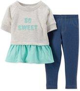 Carter's Baby Girls' 2 Piece Jegging Set (Baby) 'So Sweet'