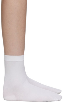Wolford White 80 Denier Socks