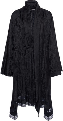 Philosophy di Lorenzo Serafini Pleated Jacquard Midi Dress