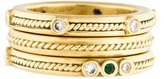 Penny Preville 18K Emerald & Diamond Band Set