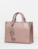 Karl Lagerfeld K/Metal Signature Shopper