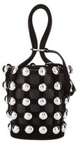 Alexander Wang Roxy Mini Studded Suede Bucket Bag, Black