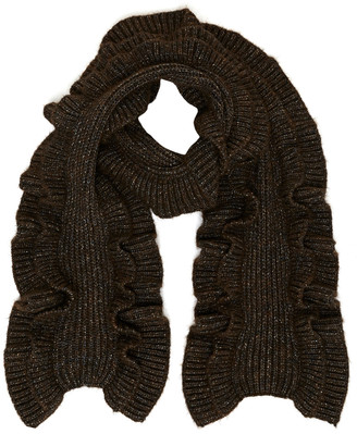 Michael Kors Ruffled Cable Knit Scarf