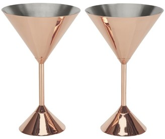 Tom Dixon Set of Two Plum Martini Glasses