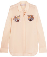 Stella McCartney Embroidered Silk Crepe De Chine Shirt - Ivory