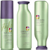 Pureology Clean Volume color Care Conditioner, Shampoo and Levitation Mist Trio
