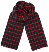 Jigsaw Windowpane Checked Scarf, Navy