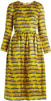 Mary Katrantzou Wilson striped cheetah-print silk dress