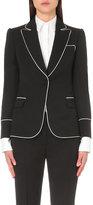 Alexander Mcqueen Contrast-piping Wool Jacket