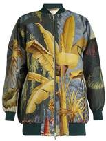 ADAM by Adam Lippes Eden-print jacquard bomber jacket