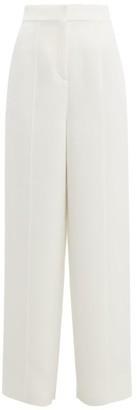 Roksanda Lapari Cady Wide-leg Trousers - Womens - Ivory