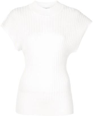 Lee Mathews shortsleeved knitted top