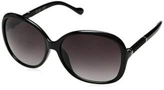 Jessica Simpson Women's J5393 Ox Non-polarized Iridium Round Sunglasses