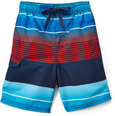 Kanu Surf Navy & Red Echelon Stripe Boardshorts - Toddler & Boys