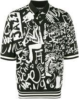 Dolce & Gabbana musical pattern polo shirt - men - Silk - 48