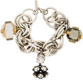 Marni strass multi-ring bracelet