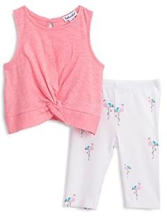 Splendid Girls' Knotted Top & Flamingo Print Leggings Set - Baby