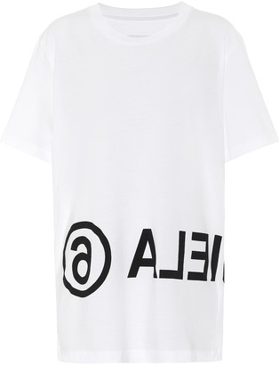 MM6 MAISON MARGIELA Reversed logo cotton T-shirt