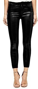 L'Agence Margot Skinny Jeans in Black Coated