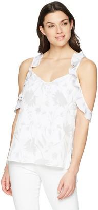 Ellen Tracy Women's Flouncy Sleeve Double Layered Top