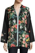 Johnny Was Houstein Floral-Print Silk Tunic, Plus Size