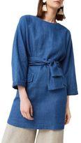 MANGO Three-Quarter-Sleeve Denim Tunic