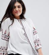 Koko Bohemian Embroidered Long Sleeve Blouse
