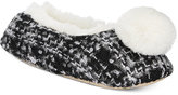Kensie Tweed Pom Pom Ballet Slippers