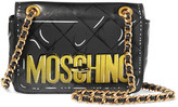Moschino Printed Leather Shoulder Bag - Dark gray