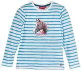 Salt&Pepper SALT AND PEPPER Girl's Longsleeve Horses Stripe Long-Sleeved T-Shirt