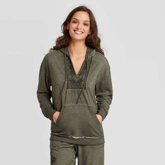 Knox Rose™ Women's Embroidered Hooded Sweatshirt - Knox RoseTM