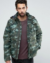 The North Face Box Canyon Down Jacket In Green Camo
