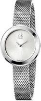 Calvin Klein Women's Swiss Firm Stainless Steel Mesh Bracelet Watch 29mm K3N23126