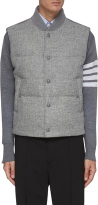 Thom Browne Down-filled snap front vest