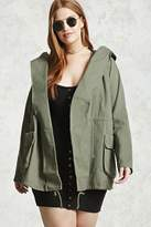 Forever 21 FOREVER 21+ Plus Size Draped Hood Jacket