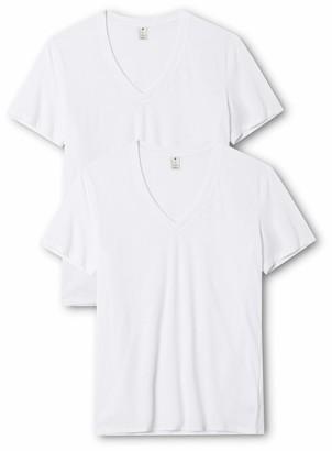 G Star Men's Base Heather V Neck Tee Short Sleeve 2 Pack