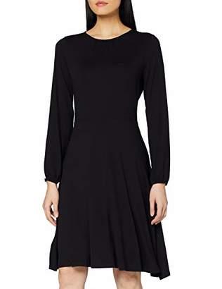 Dorothy Perkins Women's Pleat Neck Fit & Flare Dress,8 (Size:8)