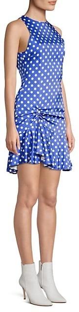 Caroline Constas Audrina Polka Dot Mini Dress