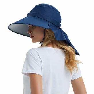 EINSKEY Womens Sun Hat Summer Foldable Wide Brim Cotton Bucket Hat Ladies Floppy Beach Hat with Chin Strap - Adjustable Size
