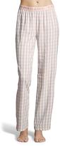 U.S. Polo Assn. Light Peach & Pink Plaid Lounge Pants