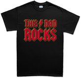 Customised Perfection This Dad Rocks - Father's Day Gift For Daddy Present T Shirt (Tee S Grey