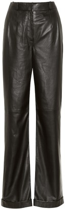 Altuzarra Franco high-rise leather pants