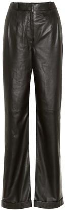 Altuzarra Franco high-rise leather pants