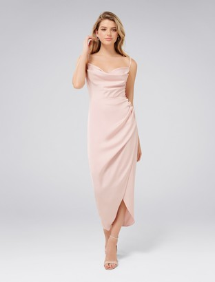 Forever New Holly Cowl Neck Midi Dress - Nude - 4