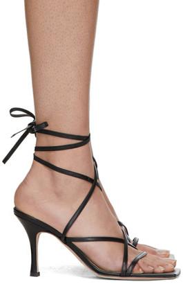 A.W.A.K.E. Mode Black Ophelia Heeled Sandals